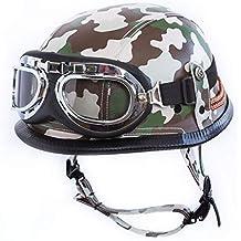 Casco de Harley vintage hecho a mano, casco de motocicleta masculino, medio casco de