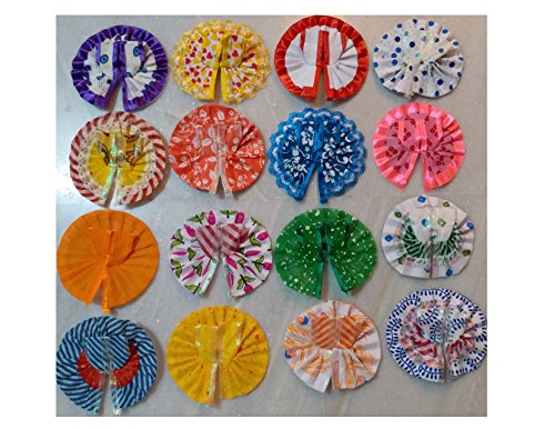 VARNI CREATION Ladoo Gopal COTTON Poshak (set) for Small Gopal Assorted Color and Design (5)