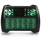 Mini Wireless Keyboard, 2.4Ghz Backlit Keyboard Touchpad Mouse Combo Multifunction Portable Handheld Remote Control for Android Google Smart TV Box Raspberry Pi 3 HTPC Xbox IPTV