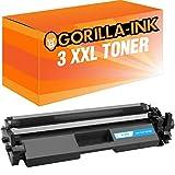 Gorilla-Ink® 3 Toner-Kartuschen XXL für HP CF217A Laserjet Pro M102 A M102 W M130 A M130 FN M130 FW M130 MFP