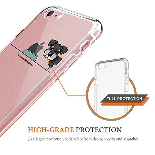 Pacyer® iPhone 7 Custodia Cane Dog TPU Gel Silicone Protettivo Skin Custodia Protettiva Shell Case Cover Per Apple iPhone 7 (4,7) (8) 4