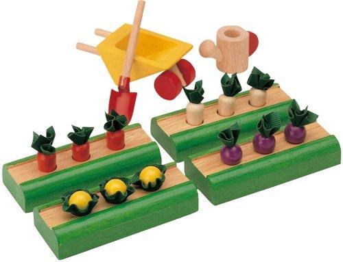 Plan Toys 39984410 - Gemüsegarten (Miniatur-gemüse-garten)
