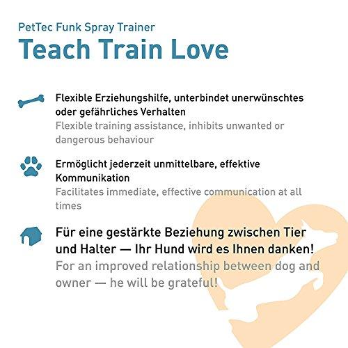 PetTec Antibell Spray Trainer Pro Erziehungshalsband mit automatischer Sprühfunktion inkl. Antibell Spray + 1 Gratisspray - 5
