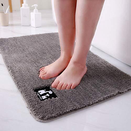 JWANS Badezimmer Teppich Super Saugfähige Teppiche Badewanne Bodenmatte Rutschfeste Fußmatte für Dusche Toilette