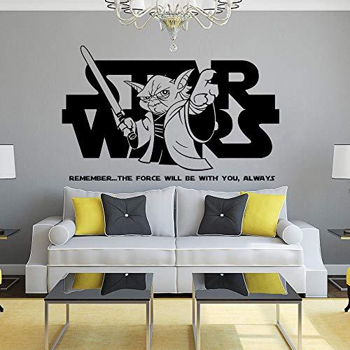 zqyjhkou Wandtattoo Jedi Meister Yoda Zitat Vinyl Wand Poster Home Schlafzimmer Dekor Abnehmbare Zitat Wandaufkleber Ay1467 57x36 cm