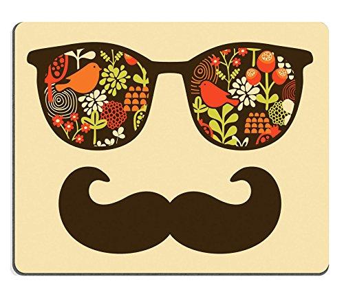 MSD Mousepad Bild 26796384Retro Sonnenbrille mit Reflection für Hipster Vector illustration von Zubehör Brillen Isolierte Best Print für Ihr T Shirt 1058