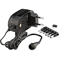 Goobay 59032 3-12V Universal-Netzteil mit maximum 18 W / 1500mA inkl. 6 Adapterstecker DC schwarz