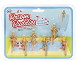 NPW Bosom Buddies Marcadores para Bebidas, Plástico,, 6x3x3 cm, 6 Unidades
