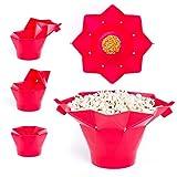 Palomitero microondas silicona | Palomitas de maíz en microondas | Cubo de silicona para palomitas | Palomitero de silicona para microondas | Palomitas microondas silicona de color rojo