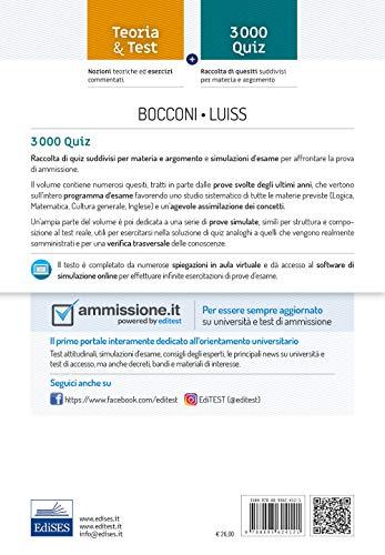 Zoom IMG-1 editest bocconi luiss 3000 quiz