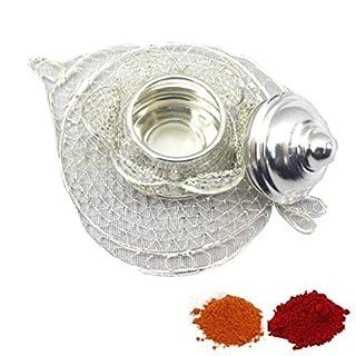 Amba Handicraft Indische Traditionelle Deko Pooja Thali, schöne Lakshmi Festival ethnische Geschenk für Sie/Kankavati / Diwali/indisches Kunsthandwerk/Zuhause / Tempel/Büro / Hochzeit Geschenk GS27