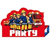 101-tlg. Party-Set * FEUERWEHRMANN SAM * für Kindergeburtstag + Motto-Party mit Teller + Becher + Servietten + Einladungen + Tischdecke + Tüten + Ballons + Luftschlangen | Kinder Geburtstag Feuerwehr Vergleich