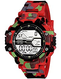 Knotyy Sports Watches For Men / Digital Watches For Men / Digital Watch For Boys / Sports Watches For Boys - Red