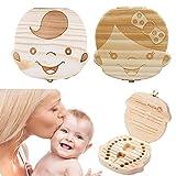 Aolvo Baby Zahnkasten, Holzzahn-Box, Zahnfee-Box, Zahn-Box, Zahn-Halter für Jungen und Mädchen, niedliche Zähne-Sammlung, Geschenk, für Kindholz Erinnerungen