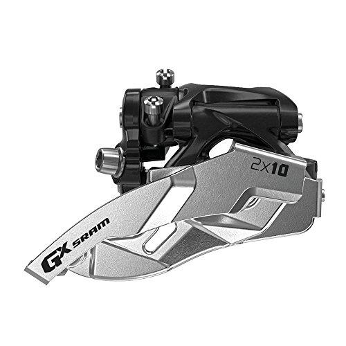 Sram GX 2x10 Low Clamp, Dual Pull, 38/36T 31,8/34,9mm Umwerfer, schwarz/Silber, 20 x 10 x 10 cm -