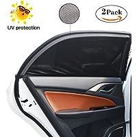 bedee Sonnenschutz Auto, Autofenster Sonnenblende Universelle Auto-Sonnen-Schutz mit UV Schutz für Kinder/Baby/Pets, 113 × 51cm Passen Meisten Autos und Suvs, Einfach zu Verwenden (2 Stück, M)