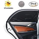 Sonnenschutz Auto, bedee Autofenster Sonnenblende Universelle Auto-Sonnen-Schutz mit UV Schutz für Kinder/Baby/Pets, 100 × 53.5cm Passen Meisten Kompaktwagen Autos, Einfach zu Verwenden (2 Stück, S)