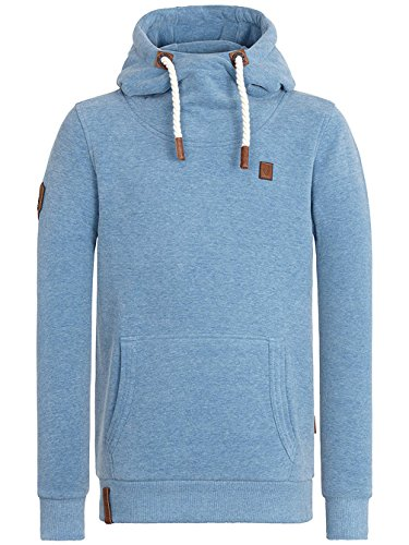 Naketano Herren Sweatshirt Chronic Blunt Ii light blue melange
