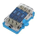 Audiobahn ABM38Q, Maxi Sicherungsverteiler 1 auf 3, Block: platin