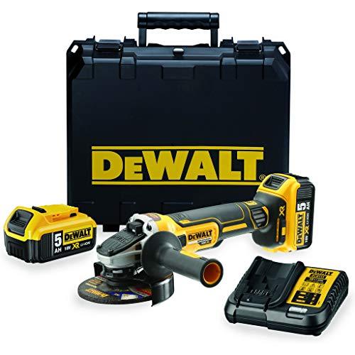 DeWalt DCG405P2-QW Meuleuse XR 18V 5Ah Li-Ion Brushless - 125mm -...