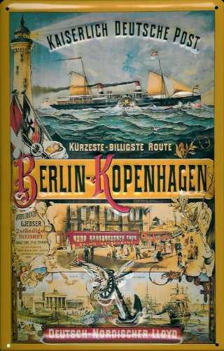 tin-sign-with-retro-berlin-copenhagen-ship-kaiser-deutsche-post