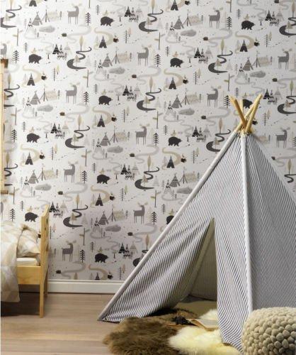 292404-ninos-y-adolescentes-ii-wigwams-blanco-beige-marron-gris-galerie-wallpaper