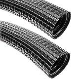 BeMatik - Flexrohr Kunststoff DMR flexiblen Wellpappe Rohr Schlauch aussen M-32 23mm 25m