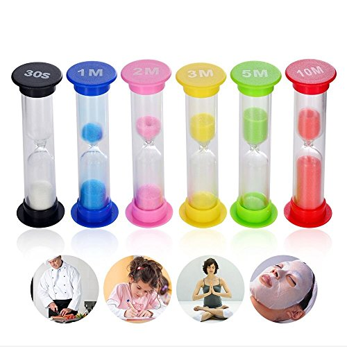 Price comparison product image Sand Timer- Senbowe™ Colorful Sandglass Hourglass Sand Clock Timer / - 30sec / 1min / 2mins / 3mins / 5mins / 10mins for Kids,  Tea,  Classroom,  Kitchen