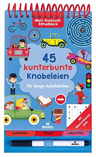 Mein Ruckzuck-Rätselblock für lange Autofahrten | Rätselbuch mit abwischbarem Stift | Für Kinder ab 6 Jahren