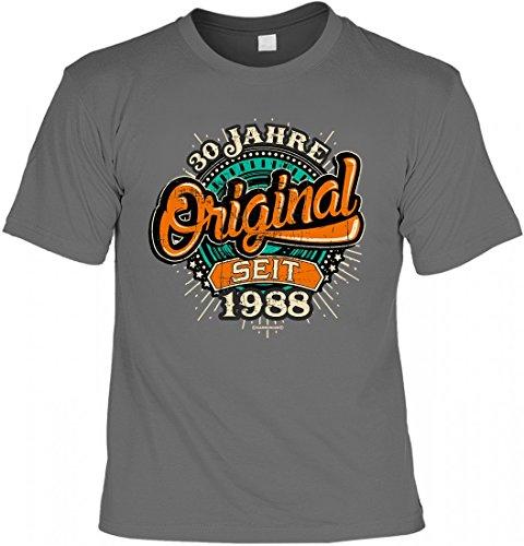 funwarestore T-Shirt Rahmenlos Design Zum 30. Geburtstag - Original Seit 1988 - INKL. Urkunde, Größe:XL (T-shirts Geburtstag 30.)