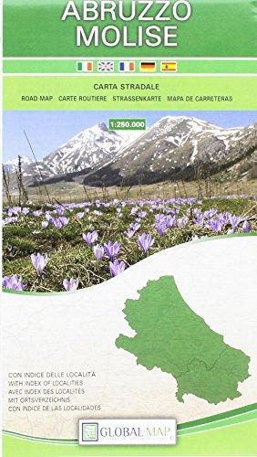Abruzzo-molise. carta stradale della regione 1:250.000 (cm 96x78)