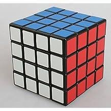 Topways® Shengshou 4x4x4 mágico cubo Intellengence Ninos Educacion Herramientas Magic cube Juego de Puzzle cube 62mm (Negro 4x4x4)