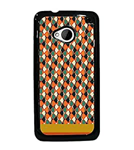 PrintDhaba Pattern D-1842 Back Case Cover for HTC ONE M7 (Multi-Coloured)
