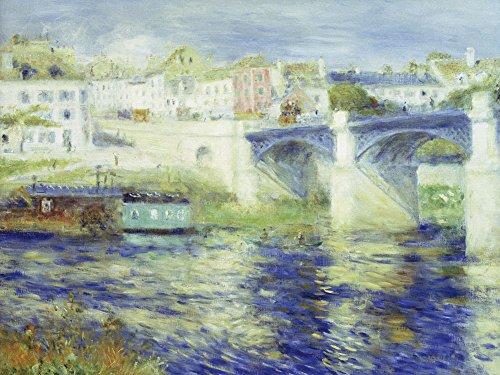 Pierre Auguste Renoir Brücke (Artland Alte Meister Wandbild Pierre-Auguste Renoir Brücke von Chatou Kunst Leinwandbild Impressionismus Gemälde Kunstdruck auf Leinwand 60 x 80 cm B5AO)