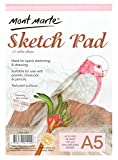 Mont Marte Zeichenpapier A5 - 150gsm - 25 Blätter - Zeichenblock ideal für Skizzen und Zeichnungen