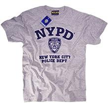 Diseño de azul marino policía de manga corta para Logo T-camiseta de manga corta gris