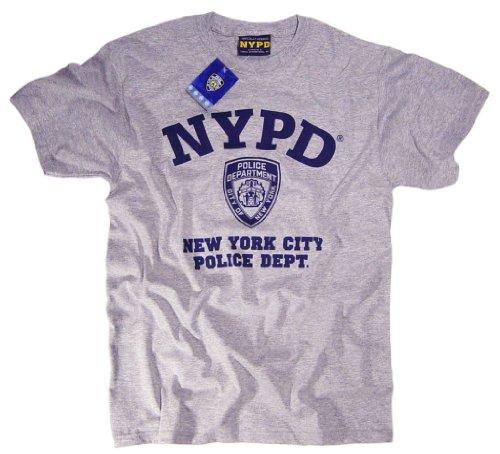 NYPD azul marino de manga corta Print Logo T-Shirt gris Gris gris xx- df35316f27d2