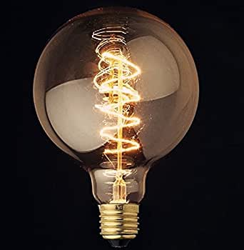 Vintage Light Bulb Filament E27 Edison Style - Spiral Globe: Amazon.co.uk: Lighting