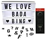 BADA BING DIY LED Kino Leuchtschild Lightbox gestaltbare Lichtbox Buchstaben Batteriebetrieb oder Stromanschluß
