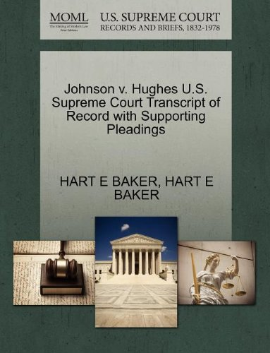johnson-v-hughes-us-supreme-court-transcript-of-record-with-supporting-pleadings