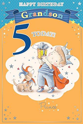 nipote-5th-birthday-card-5-today-little-boy-in-crown-azienda-regalo-229-x-152-cm