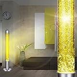 MIA Light Lava Lampe 760mm/ 1x40W/ Glitter/ Gelb/ Leuchte Lavaleuchte Deko Steh