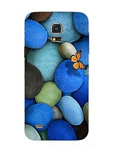Samsung S5 Mini Cover - Blue Pebbles - Designer Printed Hard Shell Case