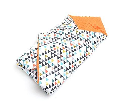 milutka Baby Wickeltuch/Decke 75cm x 75cm Dreiecke orange