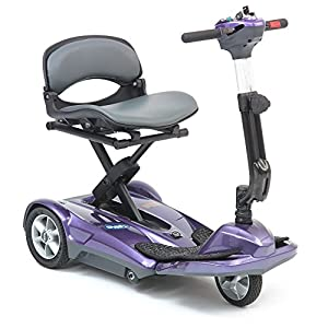 drivedevilbiss Automatic Folding Lightweight Mobility Scooter - Purple