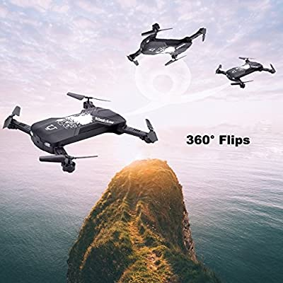 UPXIANG MINI RC Quadcopter Mini 2.4G 6-Axis Foldable Selfie Drone with HD Camera, Supporting WIFI 3D 360 Degree FPV Easy to Fly and Control