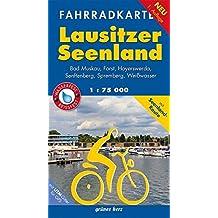 Fahrradkarte Lausitzer Seenland: Mit Bad Muskau, Forst, Hoyerswerda, Senftenberg, Spremberg, Weißwasser.Mit UTM-Gitter für GPS. Maßstab 1:75.000. Wasser- und reißfest. (Fahrradkarten)