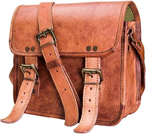 Urban Leder Leder Vertikal Messenger Sling Bag für iPad Tablet Herren Damen Jungen Mädchen, Ausflug Reisetasche, mit Texturen Natur, Größe 27,9cm - Jungen Tasche Mit Klappe