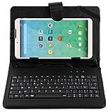 Stand de support noir avec clavier AZERTY 7 POUCES intégré pour QILIVE Tablette tactile 7 pouces Kids pour enfants + stylet tactile BONUS - Garantie 2 ans