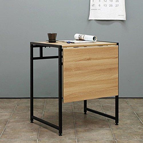 LiuJianQin ZDZ Klapptisch/einziehbar/Einzel- / Doppel-Personen/Klapp Esstisch/Portable Buch Schreibtisch/Laptop Tisch/Haushaltsgegenstände Tabelle (Farbe : Schwarz) - Klapp-esstisch